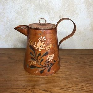 Hand painted galvanized kettle water can